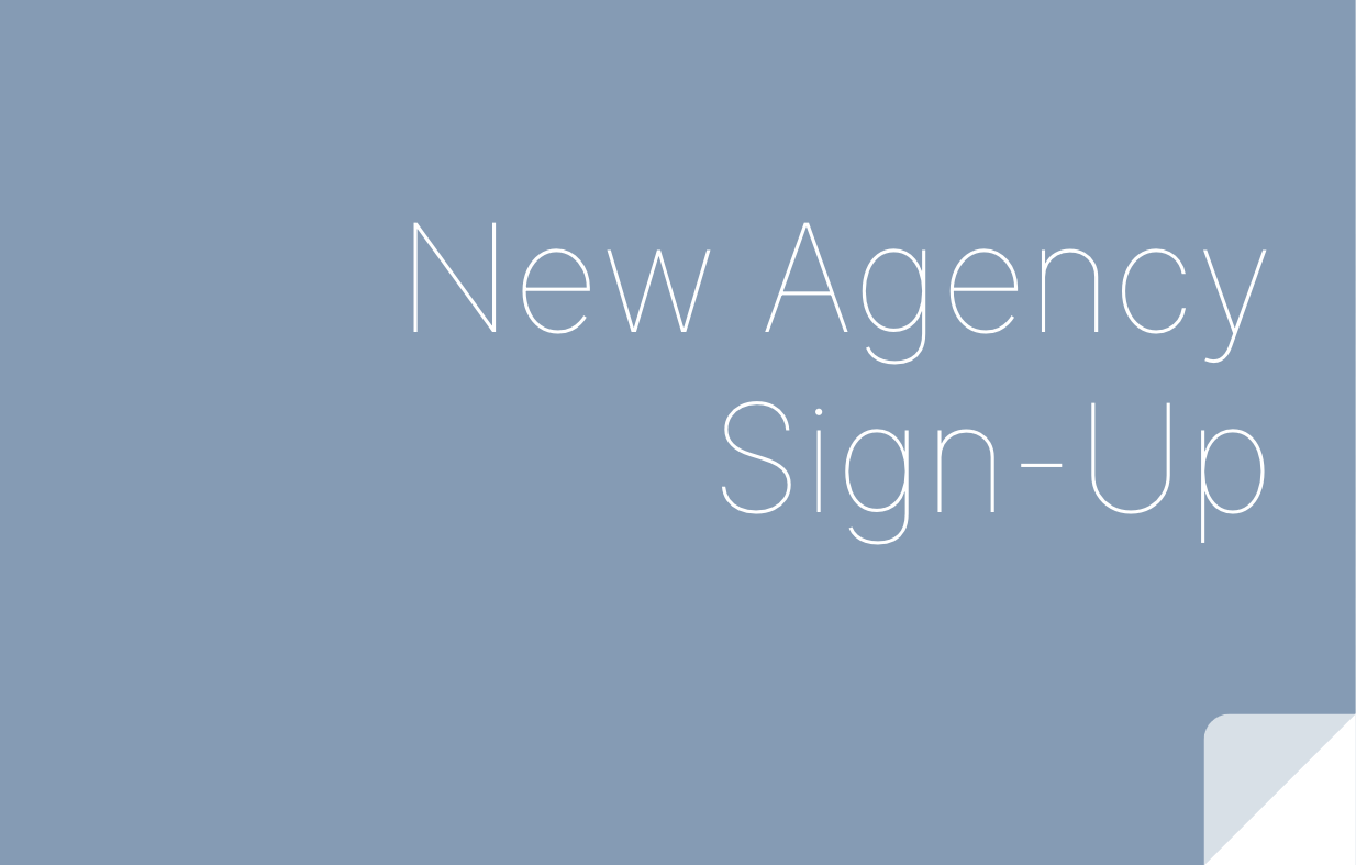 New Agency Sign Up